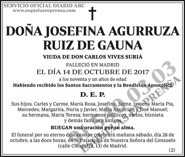 Josefina Agurruza Ruiz de Gauna